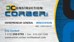 Logo Construction Corber Inc.